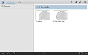 Samsung P7500 Galaxy Tab 10-1 - Internet - Internet browsing - Step 9