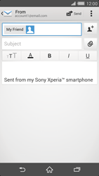Sony D6503 Xperia Z2 LTE - Email - Sending an email message - Step 8