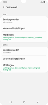 Samsung Galaxy A50 - Voicemail - handmatig instellen - Stap 9