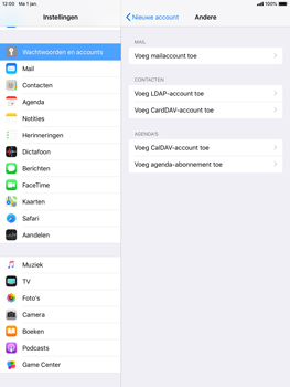 Apple ipad-mini-2-ios-12 - E-mail - Account instellen (IMAP met SMTP-verificatie) - Stap 6