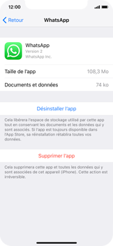 Apple iPhone XS - iOS 12 - Applications - Supprimer une application - Étape 6