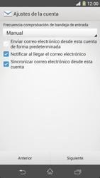 Sony Xperia Z1 - E-mail - Configurar correo electrónico - Paso 17