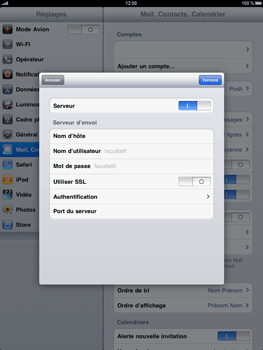 Apple iPad - E-mail - Configuration manuelle - Étape 12