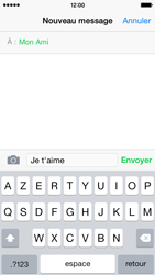 Apple iPhone 5s (iOS 8) - Contact, Appels, SMS/MMS - Envoyer un MMS - Étape 8