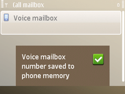 Nokia E72 - Voicemail - Manual configuration - Step 8