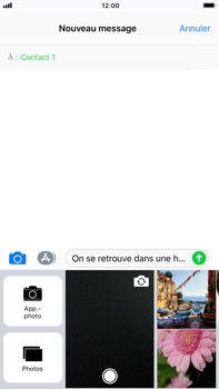 Apple iPhone 8 Plus - Contact, Appels, SMS/MMS - Envoyer un MMS - Étape 11