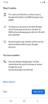 Samsung Galaxy A20e - Applications - Create an account - Step 15