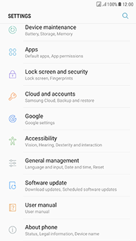 Samsung Galaxy J7 (2017) - Device maintenance - Create a backup of your data - Step 4