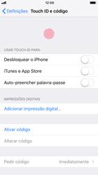 Apple iPhone 7 - iOS 12 - Segurança - Como ativar o código de bloqueio do ecrã -  4