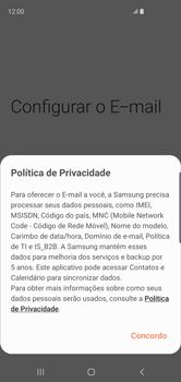 Samsung Galaxy S10 - Email - Como configurar seu celular para receber e enviar e-mails - Etapa 10
