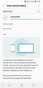 Samsung Galaxy A8 - Internet et connexion - Partager votre connexion en Wi-Fi - Étape 11