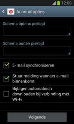 Samsung S7390 Galaxy Trend Lite - E-mail - Account instellen (IMAP zonder SMTP-verificatie) - Stap 17