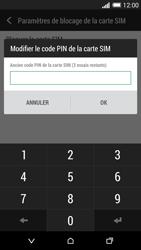 HTC Desire 820 - Sécuriser votre mobile - Personnaliser le code PIN de votre carte SIM - Étape 7