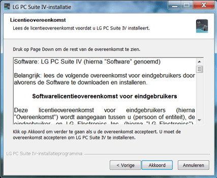 LG D390n F60 - Software - Download en installeer PC synchronisatie software - Stap 4