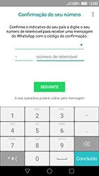 Huawei P9 - Aplicações - Como configurar o WhatsApp -  7