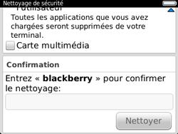 BlackBerry 9320 - Aller plus loin - Restaurer les paramètres d'usines - Étape 7