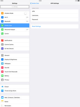 Apple iPad Pro 12.9 (1st gen) - iOS 9 - Internet - Manual configuration - Step 6