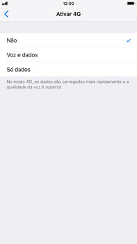 Apple iPhone 7 Plus - iOS 12 - Internet no telemóvel - Como ativar 4G -  6