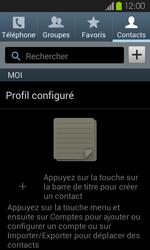 Samsung Galaxy S2 - Contact, Appels, SMS/MMS - Ajouter un contact - Étape 4