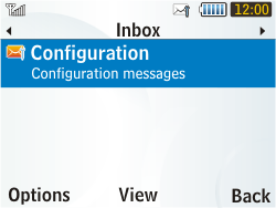Samsung S3350 Chat 335 - MMS - Automatic configuration - Step 4