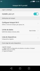 Huawei P8 Lite - Internet no telemóvel - Como partilhar os dados móveis -  10