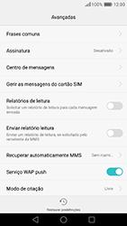 Huawei P9 - SMS - Como configurar o centro de mensagens -  6