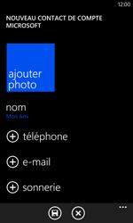 Nokia Lumia 1020 - Contact, Appels, SMS/MMS - Ajouter un contact - Étape 8