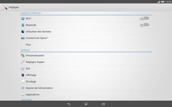 Sony Xperia Tablet Z2 (SGP521) - Wifi - configuration manuelle - Étape 3