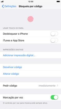 Apple iPhone 7 Plus iOS 11 - Segurança - Como ativar o código de bloqueio do ecrã -  10