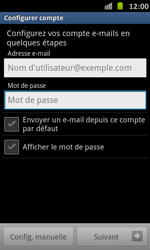 Samsung I9070 Galaxy S Advance - E-mail - Configuration manuelle - Étape 5