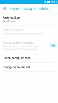 Asus Zenfone 3 - Funções básicas - Como restaurar as configurações originais do seu aparelho - Etapa 7