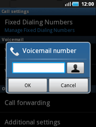 Samsung S5570 Galaxy Mini - Voicemail - Manual configuration - Step 6