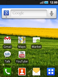 Samsung S5570 Galaxy Mini - Internet - Navigation sur Internet - Étape 1