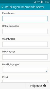 Samsung N910F Galaxy Note 4 - E-mail - e-mail instellen: IMAP (aanbevolen) - Stap 8