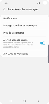 Samsung Galaxy S10e - SMS - configuration manuelle - Étape 7