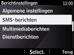 Nokia Asha 210 - SMS - Handmatig instellen - Stap 6