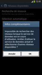Samsung I9505 Galaxy S IV LTE - Réseau - Sélection manuelle du réseau - Étape 7