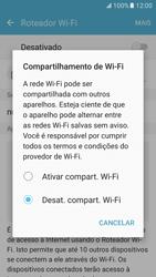 Samsung Galaxy S7 - Wi-Fi - Como usar seu aparelho como um roteador de rede wi-fi - Etapa 6