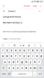Samsung Galaxy J3 (2017) - E-mail - Sending emails - Step 17