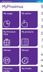 Nokia Lumia 625 - Applications - MyProximus - Step 13