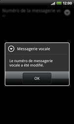 HTC A7272 Desire Z - Messagerie vocale - configuration manuelle - Étape 9