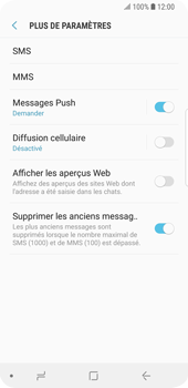 Samsung Galaxy S9 - SMS - configuration manuelle - Étape 7
