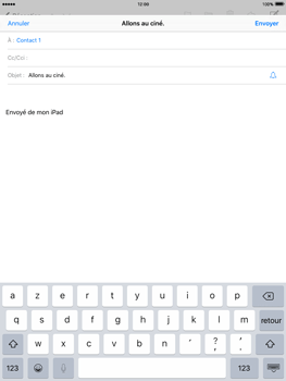 Apple iPad Mini 3 iOS 9 - E-mail - Envoi d
