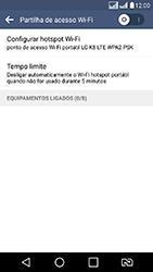 LG K8 - Wi-Fi - Como usar seu aparelho como um roteador de rede wi-fi - Etapa 6