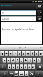 Sony LT22i Xperia P - E-mail - Sending emails - Step 5