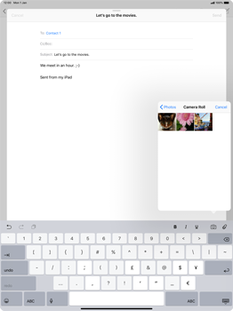 Apple iPad Pro 12.9 (2018) - Email - Sending an email message - Step 10