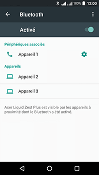 Acer Liquid Zest 4G Plus - Bluetooth - connexion Bluetooth - Étape 10