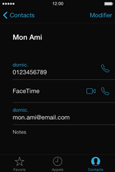 Apple iPhone 4 - Contact, Appels, SMS/MMS - Utiliser la visio - Étape 5