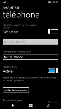 Microsoft Lumia 640 XL - Messagerie vocale - Configuration manuelle - Étape 7