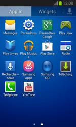 Samsung S7390 Galaxy Trend Lite - Wifi - configuration manuelle - Étape 2